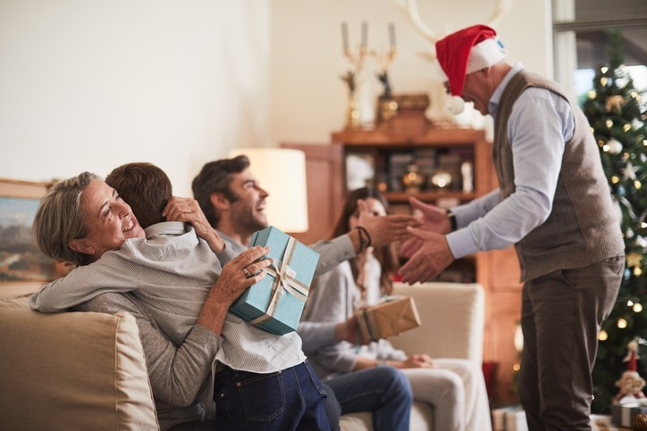 rodina na Vianoce